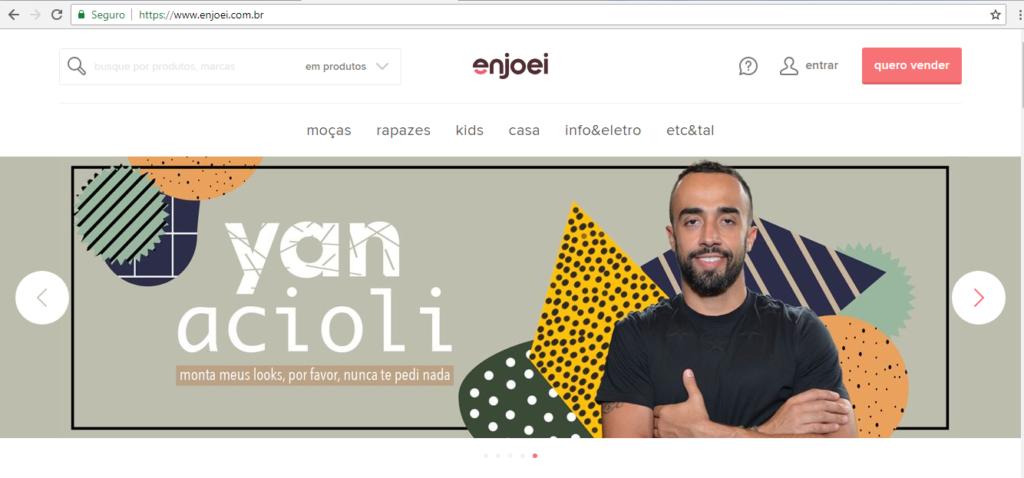 O site Enjoei é um espécie de conjunto de brechós online, onde podemos vender o que não queremos ou não nos serve mais e comprar de outras pessoas